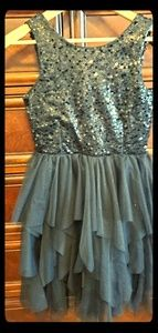 Black with sequences girls dress size 12